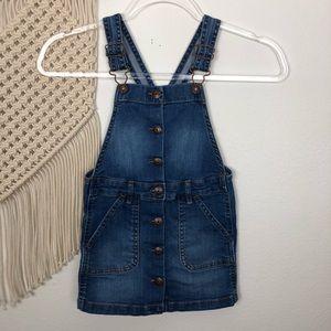Oshkosh Vestbak Girls Button Up Jean Dress Size 4